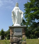 mary statue cemetery