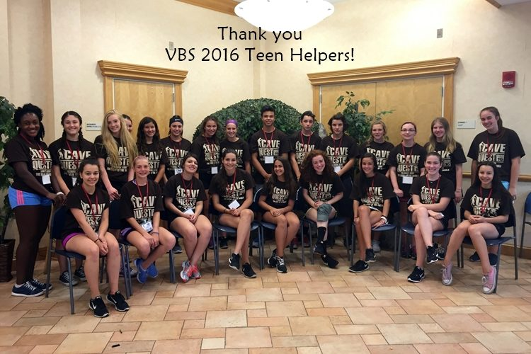VBS 2016 Teen Helpers Group