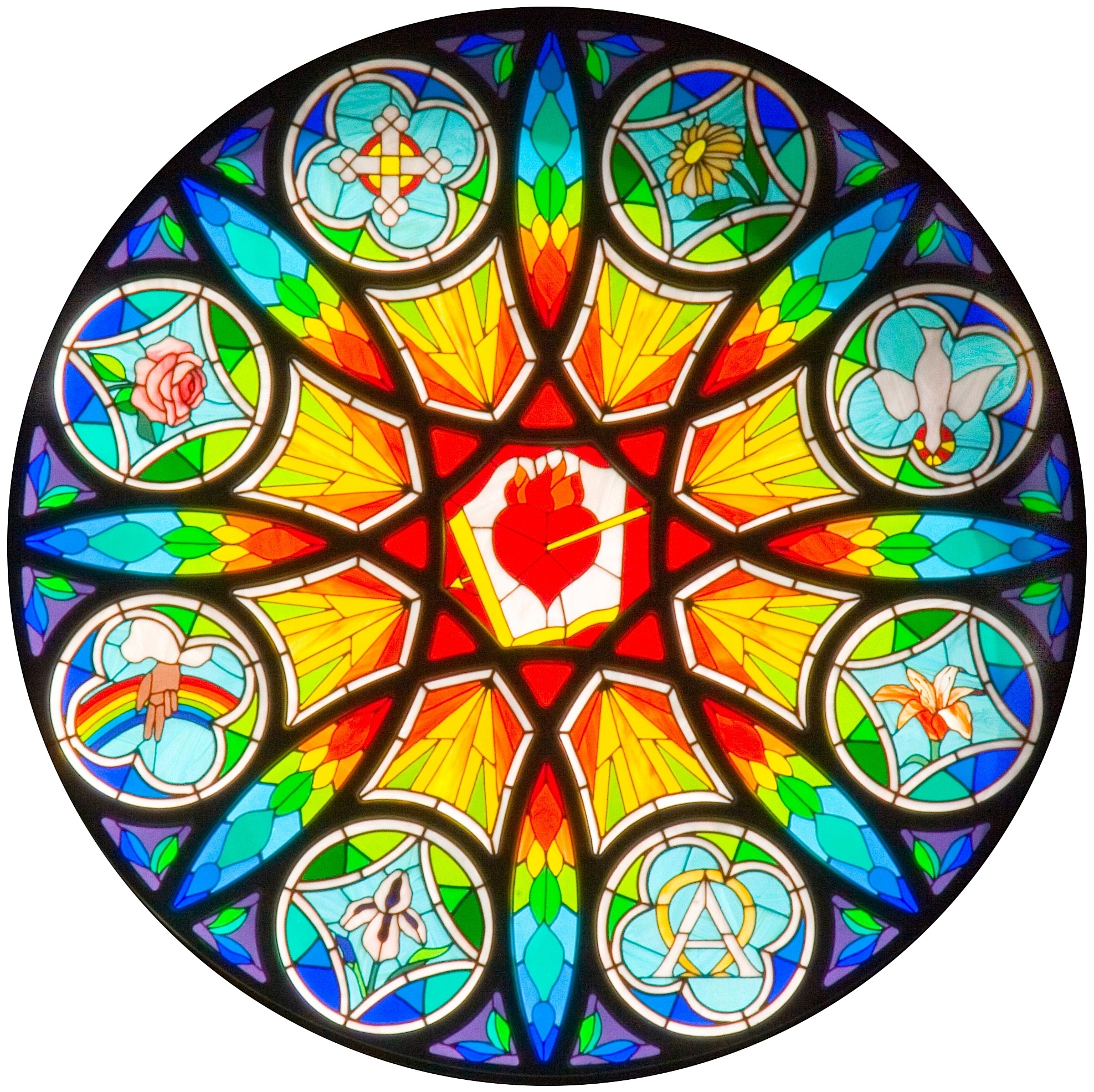 St joseph church rose window st augustine parish for Rose window design